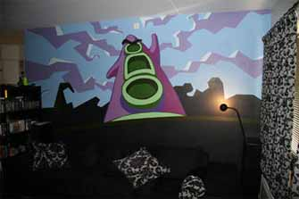Day of the Tentacle wall painting