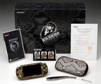 Metal Gear Solid Portable Ops Limited Edition Camouflage color PSP KonamiStyle Package
