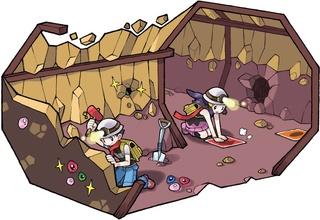 Pokémon Dimensional - Portal Pokemon-underground-treasure-hunting