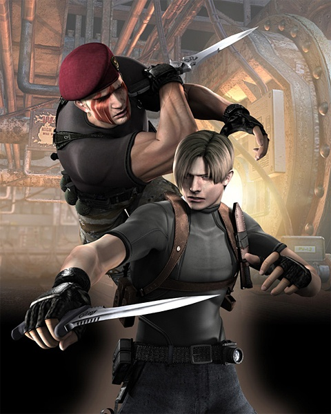 لعبة Resident Evil للجوال لعبة resident-evil-4-wii-art-leon-krauser-knife-fight.jpg