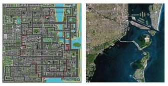 Grand Theft Auto 1 Vice City and Miami map