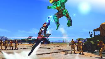 Crimson Viper Versus Blanka Street Fighter 4 screenshot