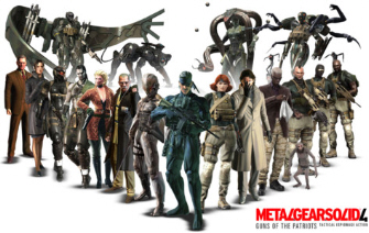 Metal Gear Solid 4 group photo