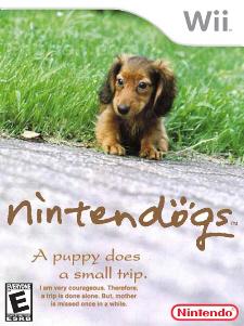 Nintendogs Wii fake boxart