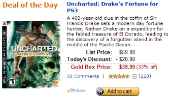 Drake's Fortune cheap for PS3