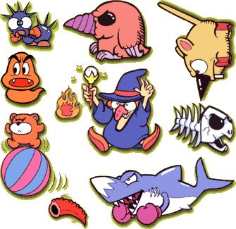 Enemies in Super Mario Land 2