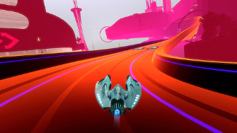 Click for a bigger Wipeout HD neon screenshot