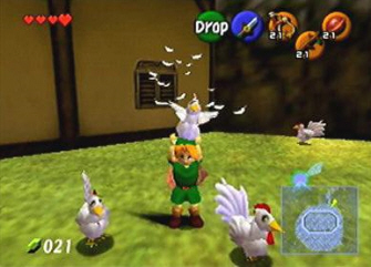 Cucco Screenshot (Zelda: Ocarina of Time)