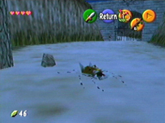 Gold Skulltula Screenshot (Zelda: Ocarina of Time)