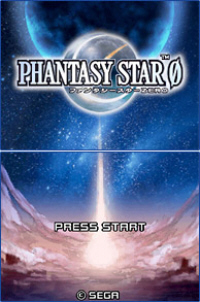 Phantasy Star Zero logo on startup screen