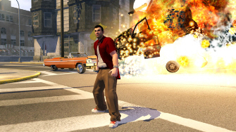 Saints Row 2 explosion screenshot