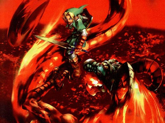 Volvagia Fire Dragon Artwork (Zelda: Ocarina of Time)