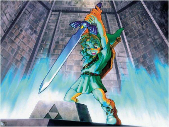 Young Link Master Sword Artwork (Zelda: Ocarina of Time)