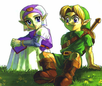 Young Zelda & Link Artwork (Zelda: Ocarina of Time)