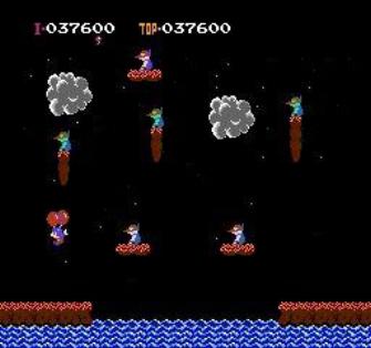 Balloon Fight NES Screenshot 1
