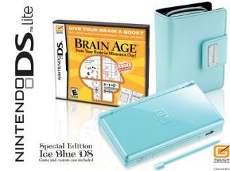 Ice Blue Nintendo DS Lite bundle