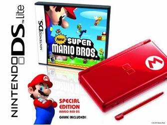 Mario Red Nintendo DS Lite bundle