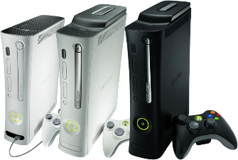 The Xbox 360 system from no hdd, to hdd, to Elite. Click for big pic