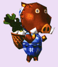 Joan the Boar Animal Crossing Character Artwork
