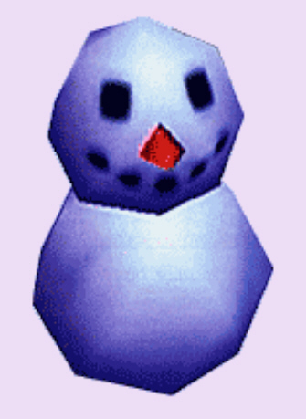 Animal Crossing Frosty the Snowman Character Artwork