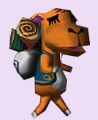 Animal Crossing Sahara Character Artwork