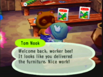 Animal Crossing Tom Nook's Shop Screenshot