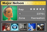 Major Nelson's GamerTag on Xbox Live