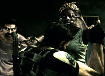 Resident Evil 5 Screenshot - Zombies Attack Chris
