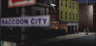 Welcome to Raccoon City! Resident Evil 2 Sign from opening screenshot