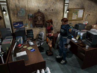 Resident Evil 2 S.T.A.R.S. office screenshot
