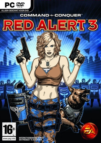 Unreleased Red Alert 3 Allied box cover with Tanya