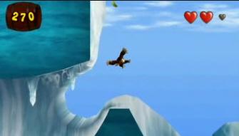 Donkey Kong Jungle Beat Ice Sliding Screenshot. New Play Control