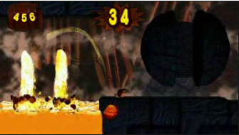 Donkey Kong Jungle Beat lava screenshot. New Play Control