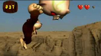 Donkey Kong Jungle Beat pig beating screenshot. New Play Control version