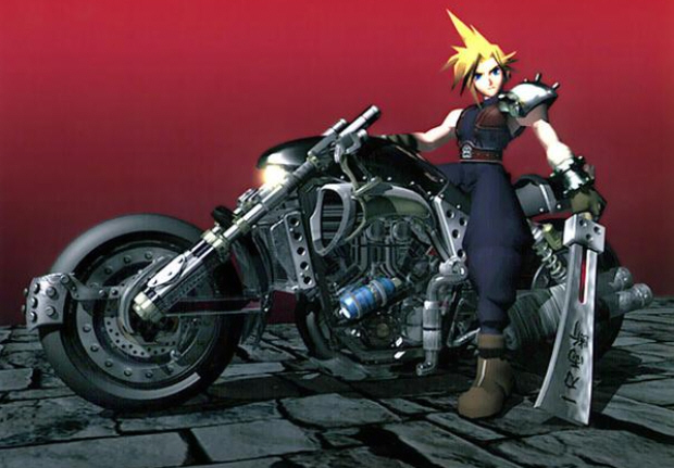 Final Fantasy VII Cloud Motorcycle wallpaper CG render