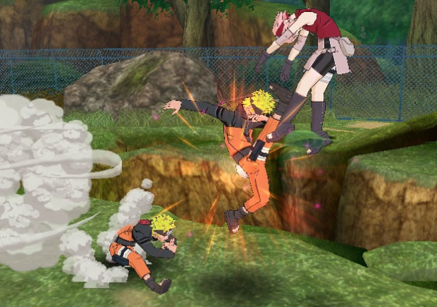 Naruto Shippuden: Clash of Ninja Revolution 3 Wii gameplay screenshot