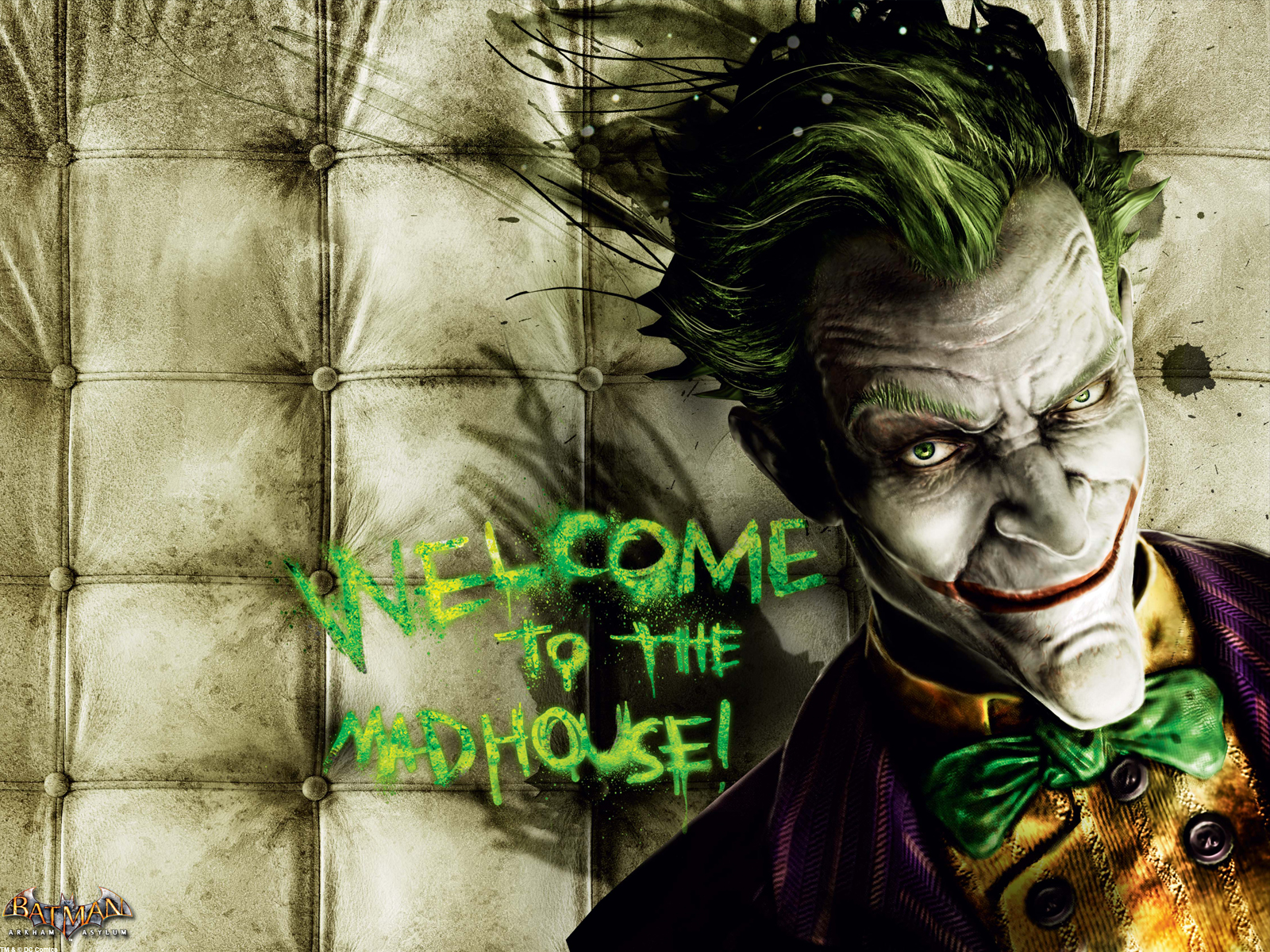Batman: Arkham Asylum Joker wallpaper. Click for big pic