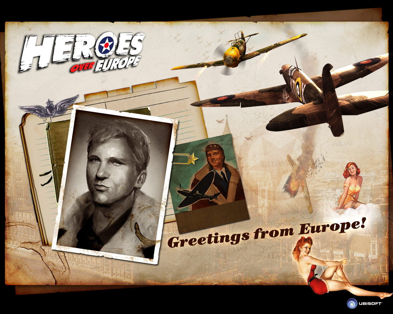 Heroes Over Europe wallpapers. Click on each thumbnail for the wallpaper