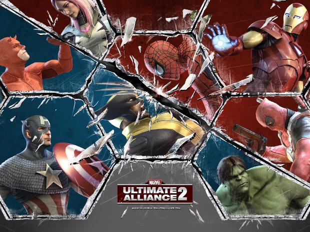 Marvel Ultimate Alliance 2 cast artwork