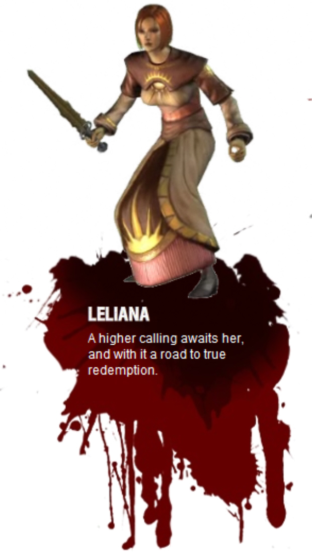 Leliana – Leliana is from the Orlesian Empire and is classed as a rogue.
