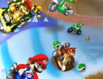 Mario Kart Wii drawing wallpaper by Foxeaf