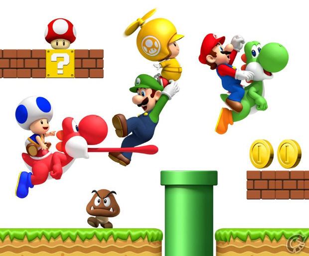 New Super Mario Bros. Wii Wallpaper - 1920x1200