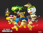 New Super Mario Bros. Wii Koopa Kids Bowser Family wallpaper
