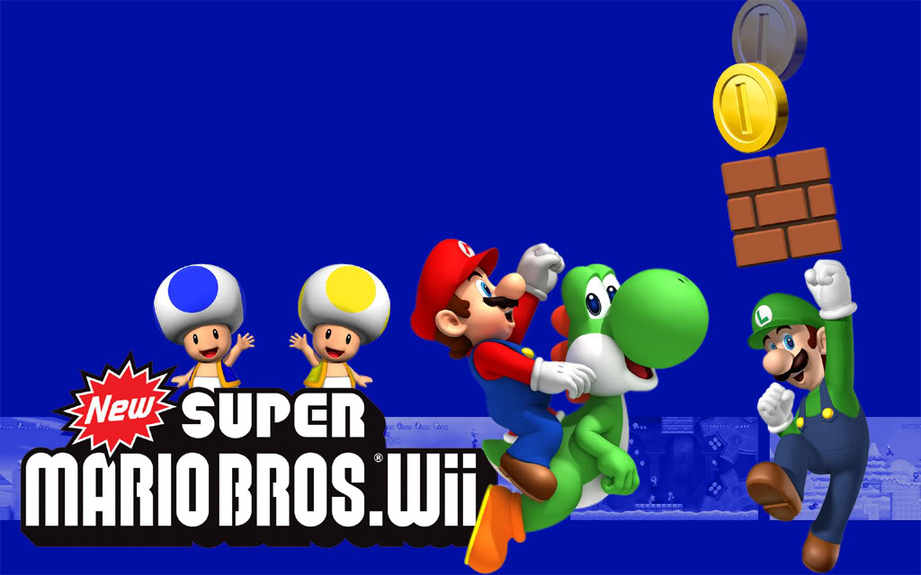 mario bros wallpaper. our New Super Mario Bros.