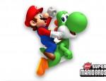 New Super Mario Bros. Wii Wallpaper - Mario & Yoshi 1920x1200