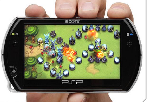 PSP Minis on a PSPgo.
