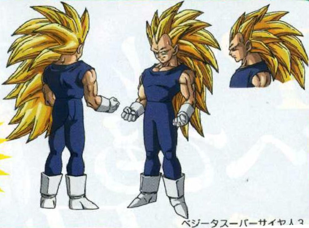 Never seen in the Dragon Ball Z nor GT series, Vegeta's SS3 will appear as