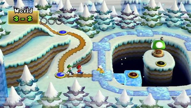 Mushroom Toad Houses New Super Mario Bros Wii screenshot