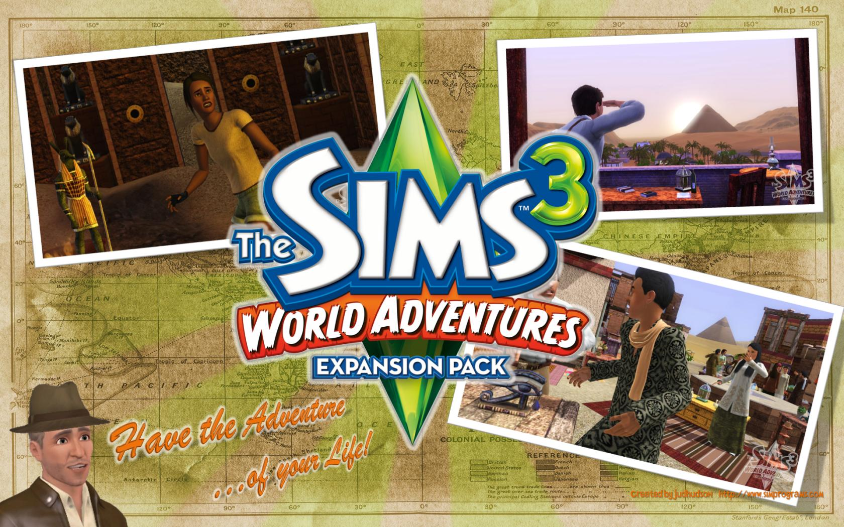 the sims 3 world adventures wallpaper
