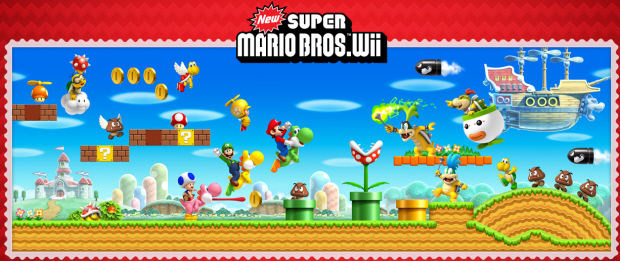 New Super Mario Bros Wii star coins locations guide artwork